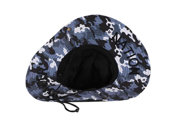 Inside of Camo Bucket Sun Hat with Wide Brim