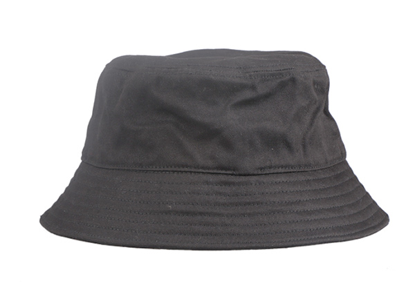 Back of Hip Hop Black Fashion Bucket Hat with Embroidered King Logo