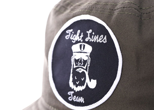 Detail Logo of Khaki Bucket Hat with a Patch Logo