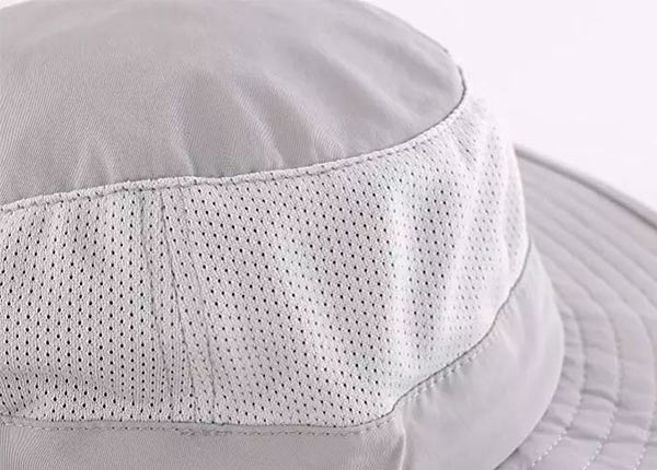 Slant of Visor Bucket Hat with Neck and Face Shield