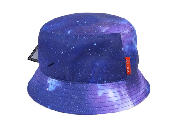 Tie Dye Bucket Hat Purple Tye Dye Printed Bucket Hat