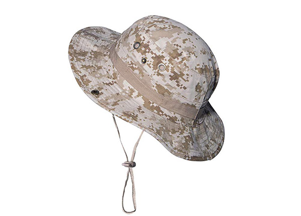 Slant of Custom Digital Camo Bucket Hat with String