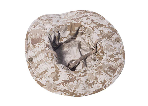 Inside of Custom Digital Camo Bucket Hat with String