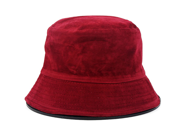 Maroon Bucket Hat Customized Blank Cotton Wine Red Bucket Hat