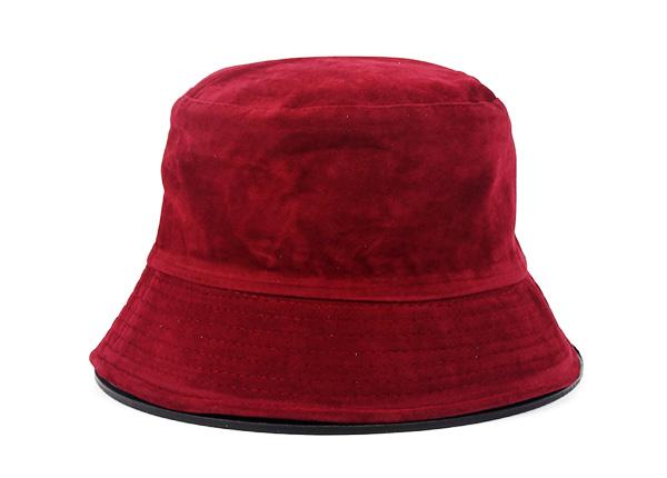 Front of Blank Maroon Bucket Hat