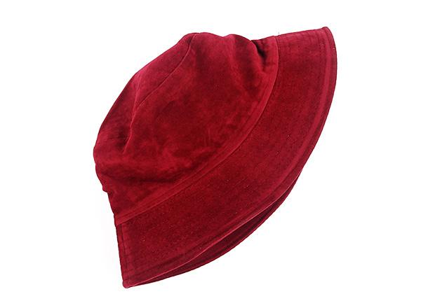Side of Blank Maroon Bucket Hat