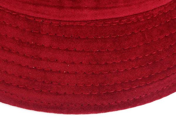 Brim of Blank Maroon Bucket Hat