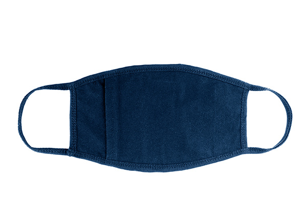 Back of Cotton Face Mask With a Filter Pocket and Printed Starry Night Interactive Animation