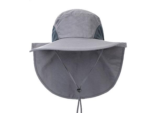 Front of Blank Desert Safari Bucket Hat With Neck Flap