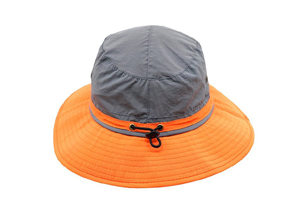 Overview of Wide Brim Blank Nylon Bucket Hat With String