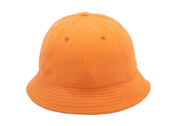 Back of 6 Panel Embroidered Terry Towel Orange Bucket Hat