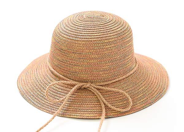 Front of Raffia Straw Bucket Hat