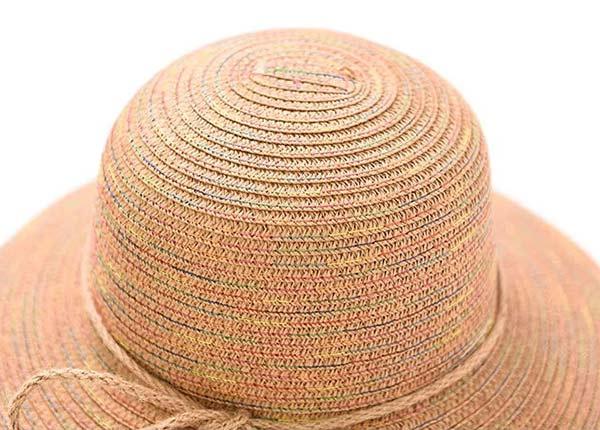 Slant of Raffia Straw Bucket Hat