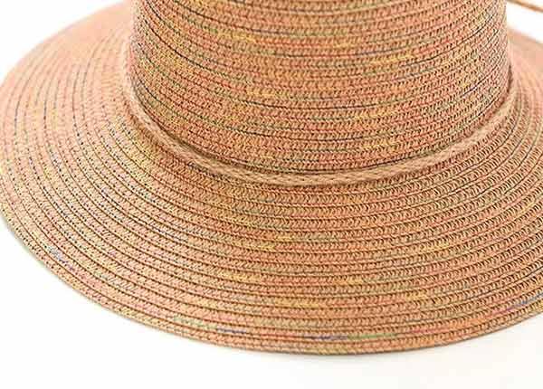 Brim of Raffia Straw Bucket Hat