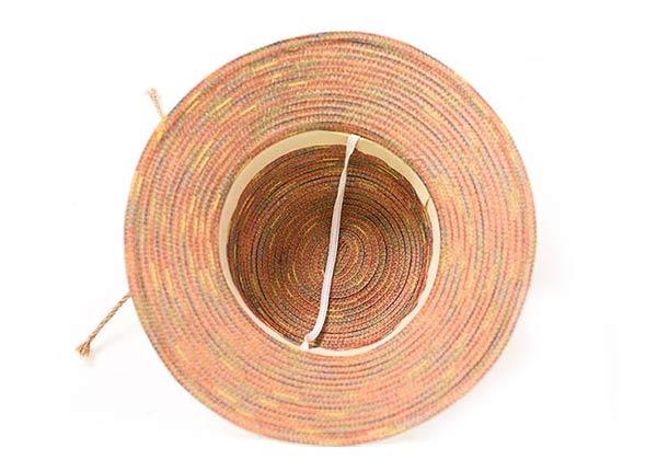 Inside of Raffia Straw Bucket Hat