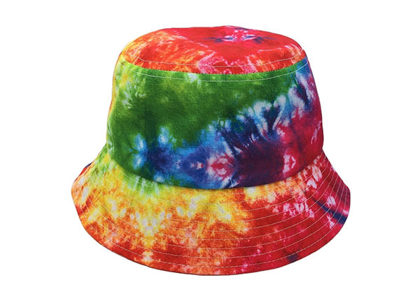 Overview of Colorful Rainbow Tie Dye Bucket Hat