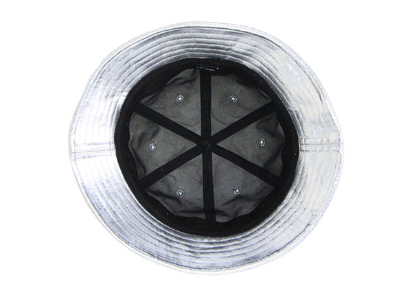 Inside of 6 Panel Blank Waterproof PU Reflective Bucket Hat