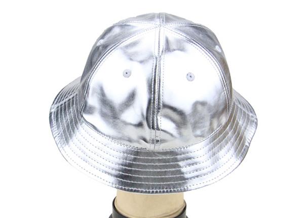 Back of 6 Panel Blank Waterproof PU Reflective Bucket Hat