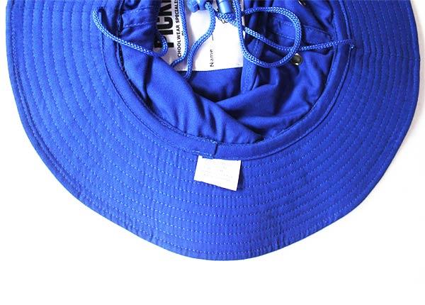 Brim of Wide Brim Royal Blue Bucket Hat With String