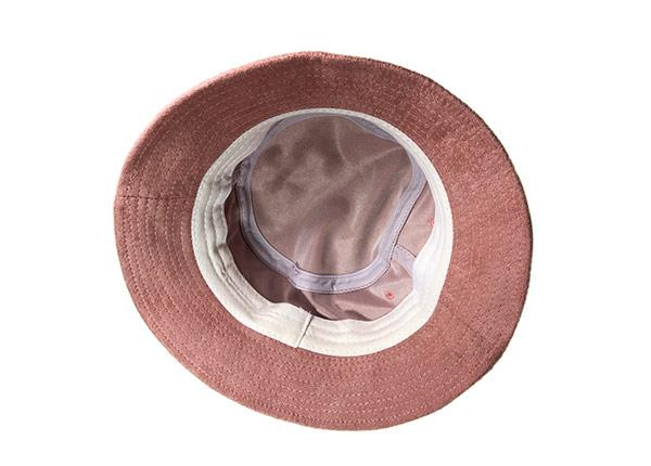 Inside of Mens Blank Brown Faux Suede Bucket Hat