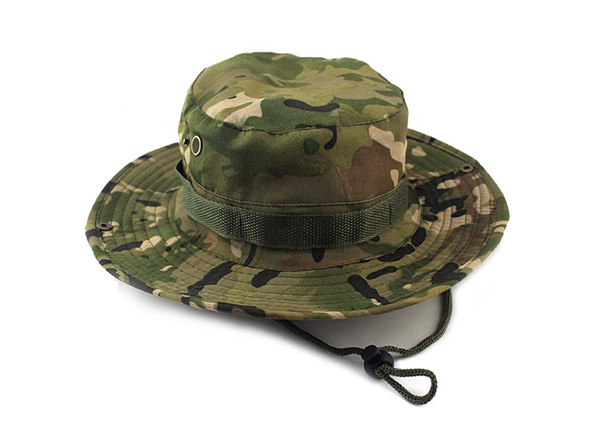 Tactical Bucket Hat Men's Military Camouflage Boonie Bucket Hat with String For Sale