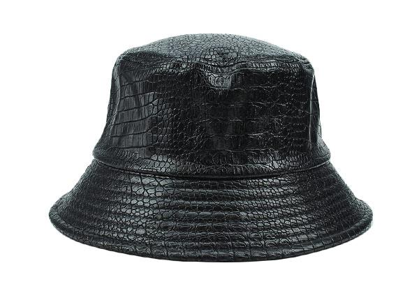 Front of Black Blank Waterproof Bucket Hat
