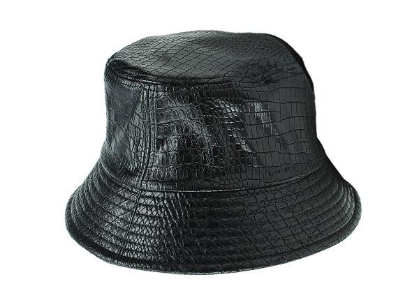 Side of Black Blank Waterproof Bucket Hat