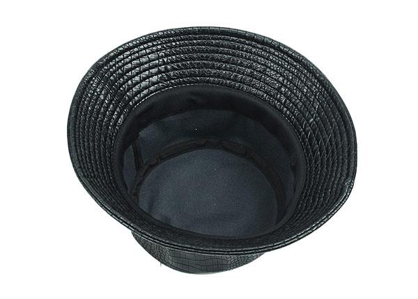 Inside of Black Blank Waterproof Bucket Hat