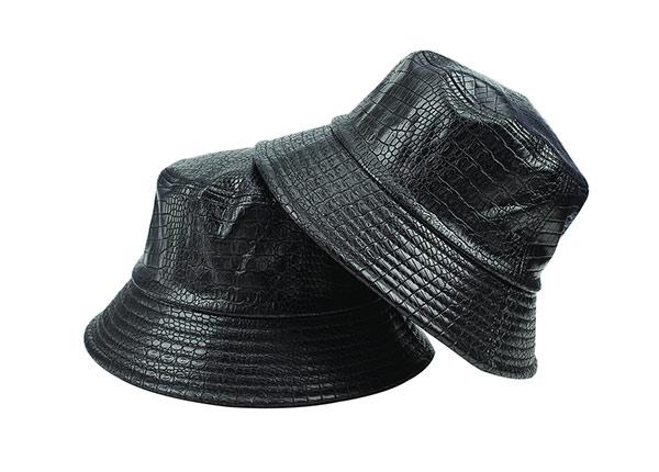 Overview of Black Blank Waterproof Bucket Hat
