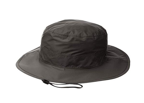 Wide Brim Bucket Hat Custom Mens Black Waterproof Sun Hat With String