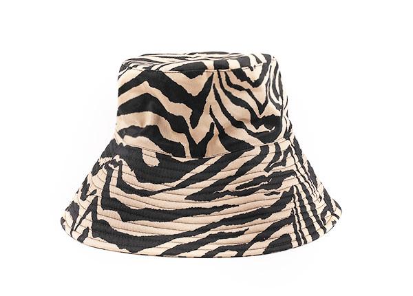 Zebra Bucket Hat Custom Wide Brim Zebra Print Sun Hat