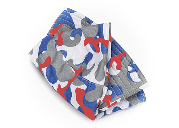 Foldable Red White and Blue Camo Short Brim Bucket Hat