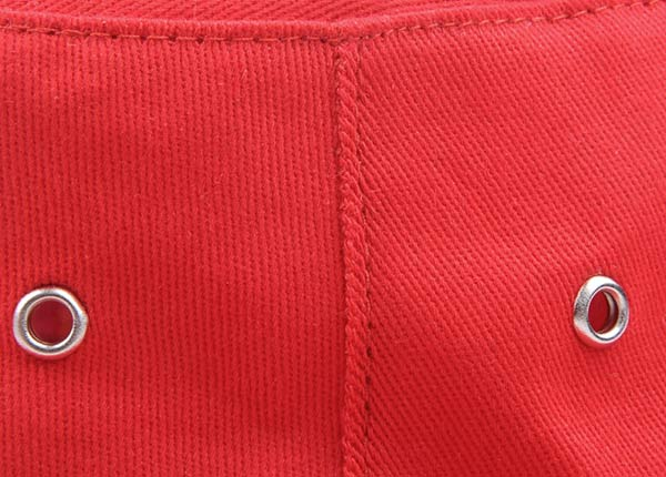 Stitching of Wide Brim Blank Red Bucket Hat With String