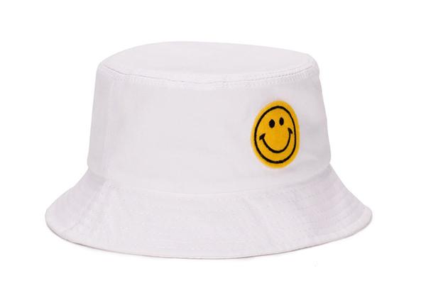 Slant of White Smile Emoji Bucket Hat