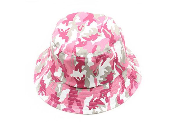 Pink Camo Bucket Hat Custom Women's Blank Camouflage Boonie Hat For Sale