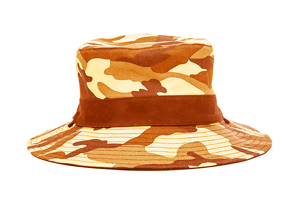 Back of Blank Blaze Orange Camo Bucket Hat