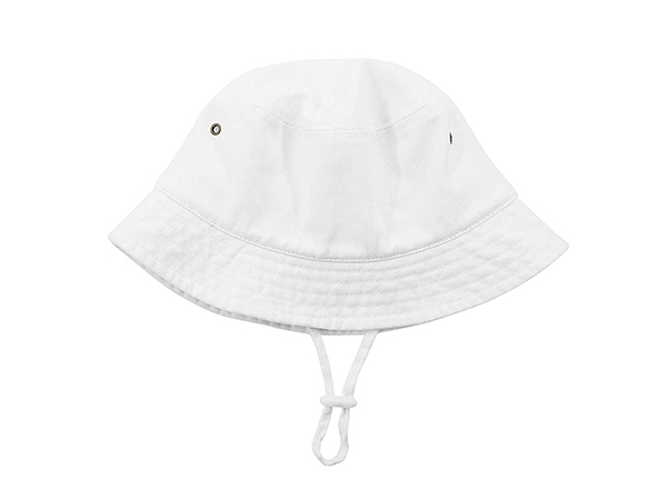 Foldable of Blank Plain Cotton White Bucket Hat