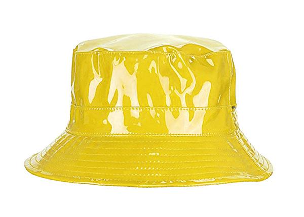 Yellow Rain Bucket Hat Blank Plastic Waterproof Hat For Women or Men