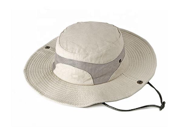 Vented Bucket Hat Khaki Ventilated Wide Brim Sun Hat For Women or Men