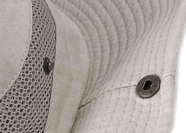 Eyelets of Khaki Wide Brim Vented Bucket Hat